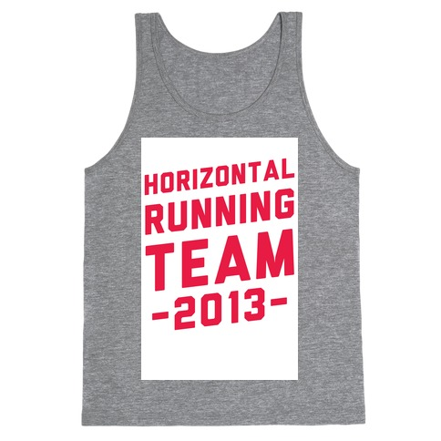 Horizontal Running Team Tank Top