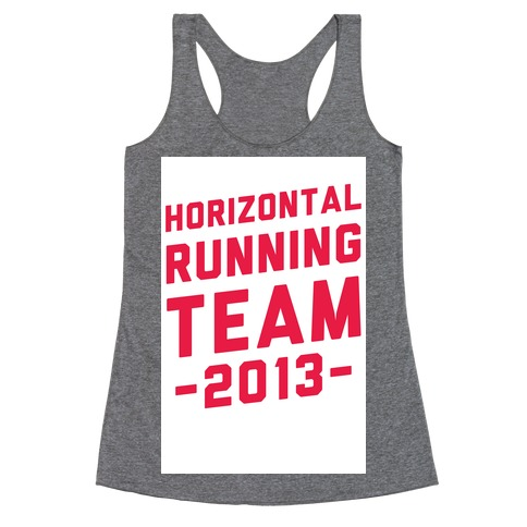 Horizontal Running Team Racerback Tank Top