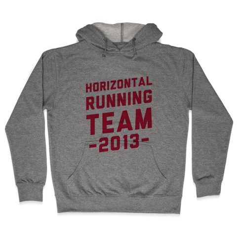 Horizontal Running Team Hooded Sweatshirt