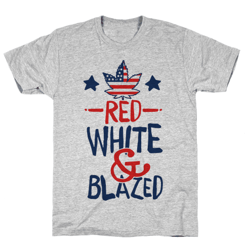 Red White and Blazed Mens T-Shirt