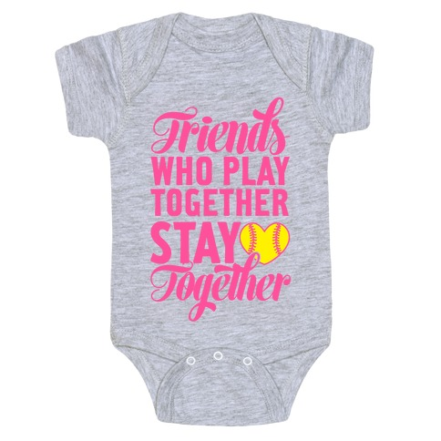 Friends Who Play Together Baby Onesy