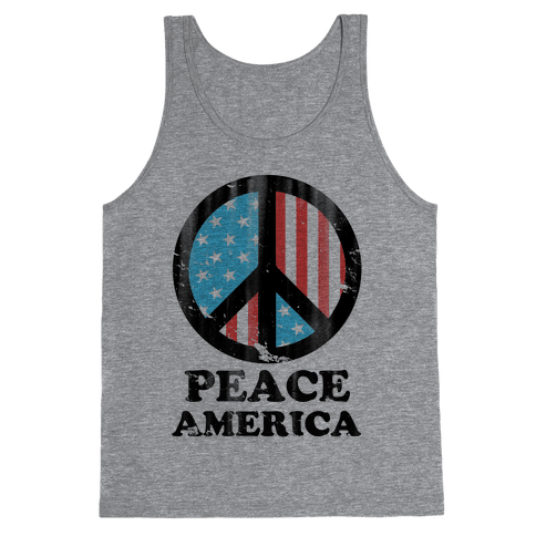 Peace America (Patriotic T-Shirt) Tank Top