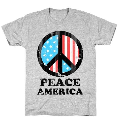 Peace America (Patriotic T-Shirt) T-Shirt