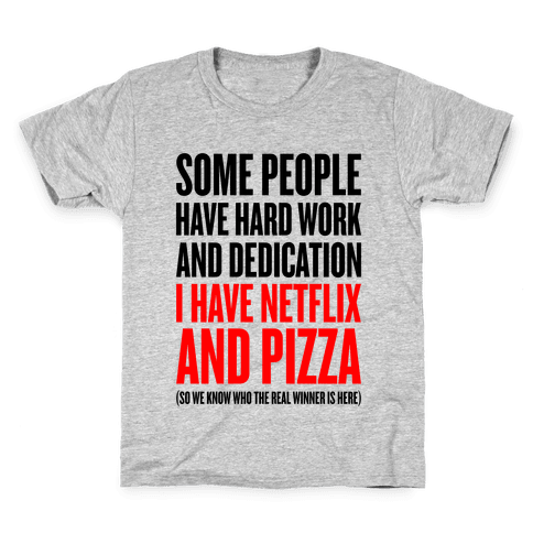 Netflix And Pizza Kids T-Shirt