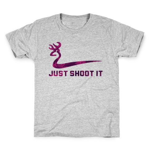 Just Shoot It Pink Kids T-Shirt