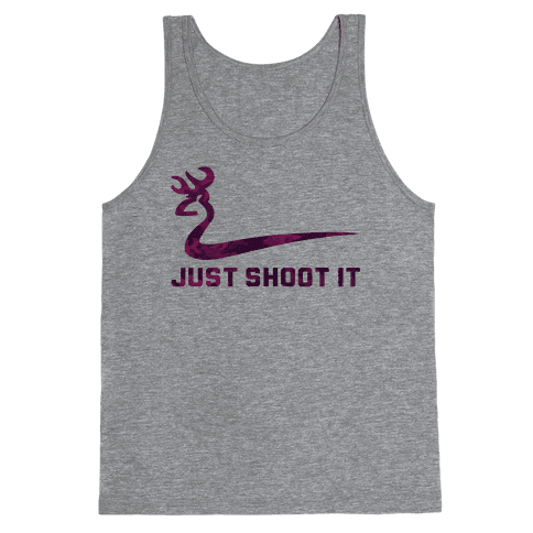 Just Shoot It Pink Tank Top