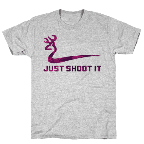 Just Shoot It Pink Mens T-Shirt