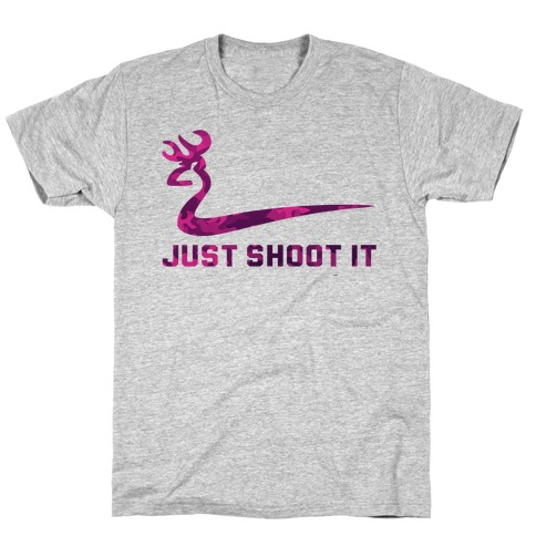Just Shoot It Pink Mens/Unisex T-Shirt