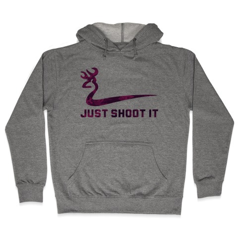 Just Shoot It Pink Hooded Sweatshirt