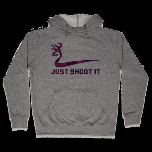Just Shoot It Pink Hooded Sweatshirt