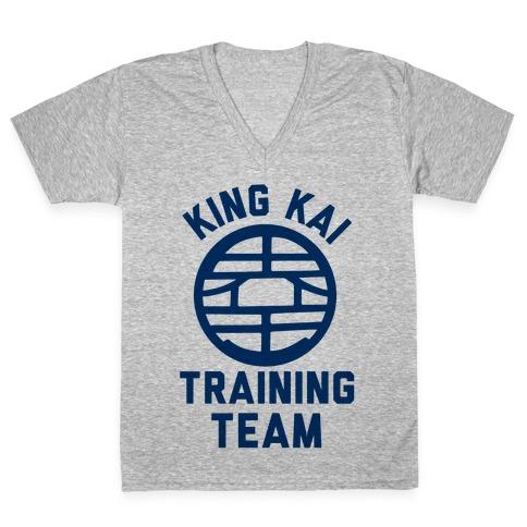 King Kai Training Team V-Neck Tee Shirt
