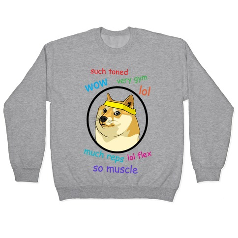 Fitness Doge (color) Pullover