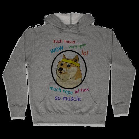 Fitness Doge (color) Hooded Sweatshirt