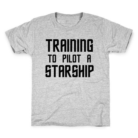 Training To Pilot A Starship Kids T-Shirt