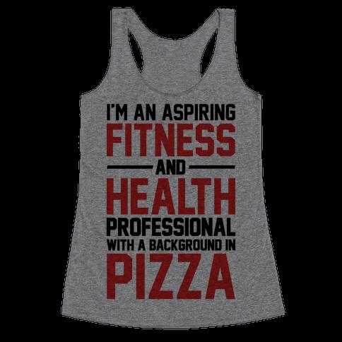 Professional Pizza Trainer Racerback Tank Top