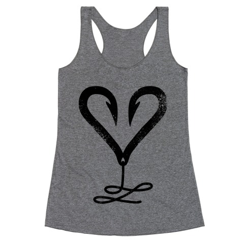 I Love Fishing Racerback Tank Top
