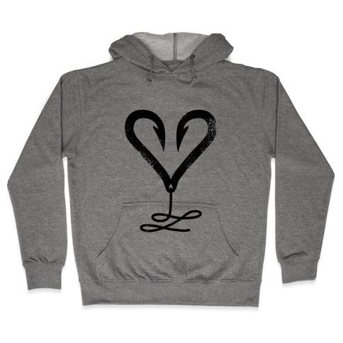 I Love Fishing Hooded Sweatshirt
