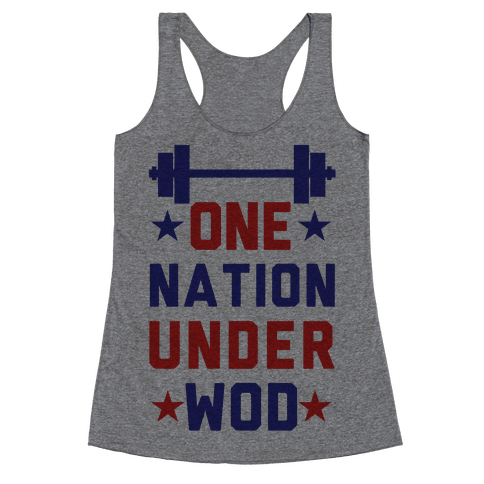 One Nation Under WOD Racerback Tank Top