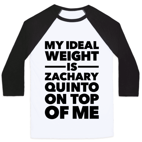 Ideal Weight (Zachary Quinto) Baseball Tee
