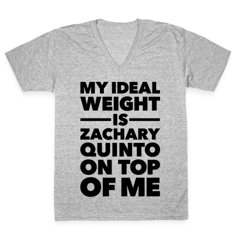 Ideal Weight (Zachary Quinto) V-Neck Tee Shirt