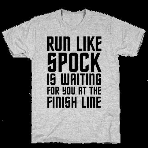 Run Like Spock Mens T-Shirt