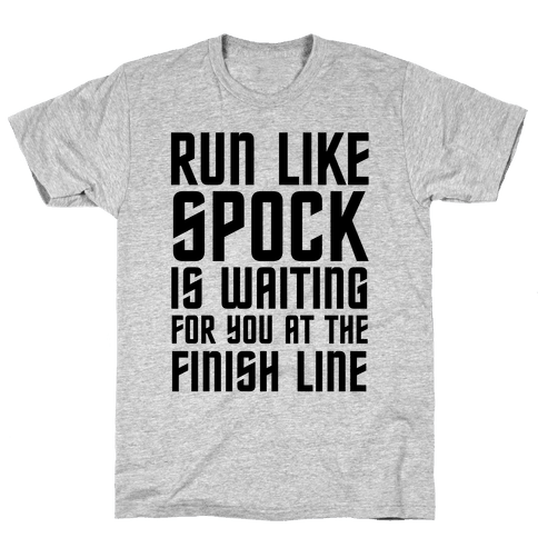 Run Like Spock Mens T-Shirt