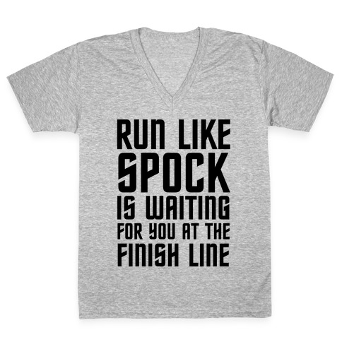 Run Like Spock V-Neck Tee Shirt