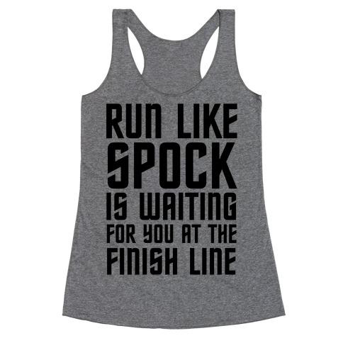 Run Like Spock Racerback Tank Top
