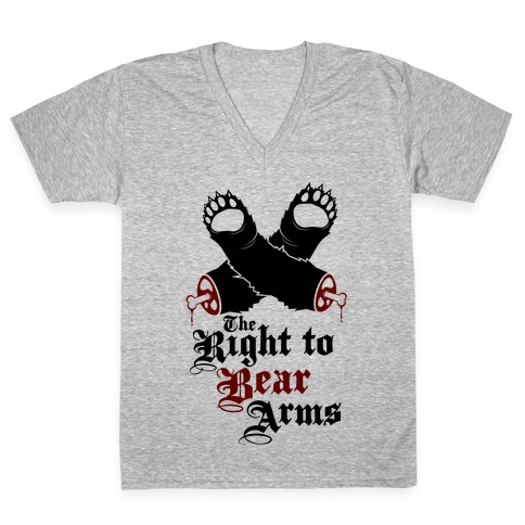 Right To Bear Arms (Political) V-Neck Tee Shirt