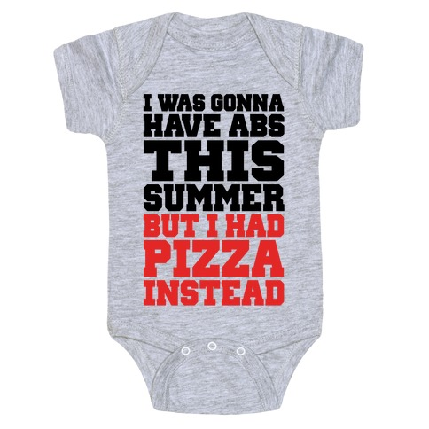 Pizza Body For The Summer Baby Onesy