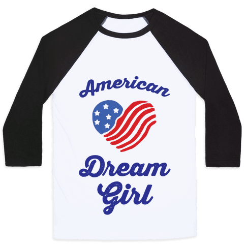 American Dream Girl Baseball Tee