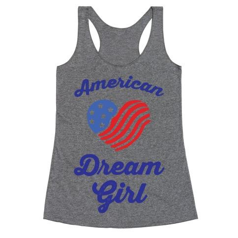 American Dream Girl Racerback Tank Top