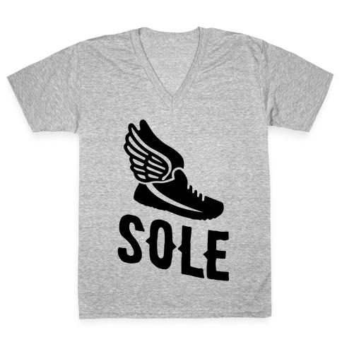 Sole Mates V-Neck Tee Shirt