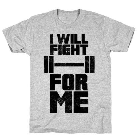 I Will Fight For Me (Vintage) Mens T-Shirt