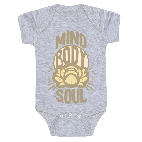 Mind Body Soul Baby Onesy