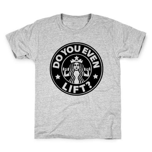 Do You Even Lift Coffee Parody Kids T-Shirt