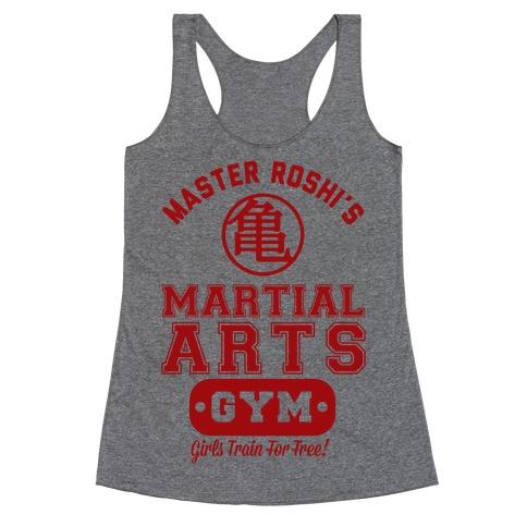 Master Roshi's Martial Arts Gym Racerback Tank Top