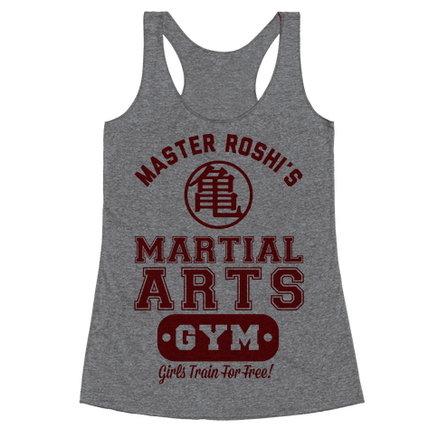 Master Roshi's Martial Arts Gym Racerback Tank Top
