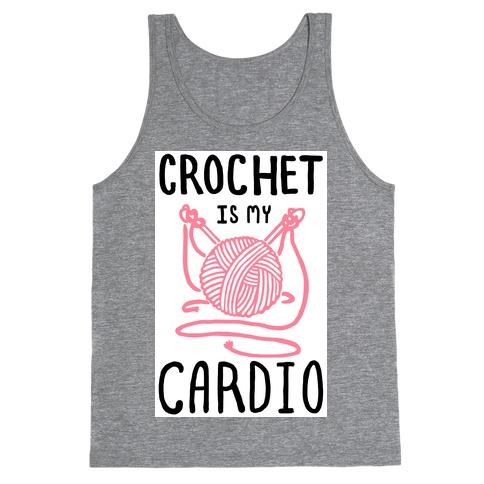 Crochet is my Cardio Tank Top