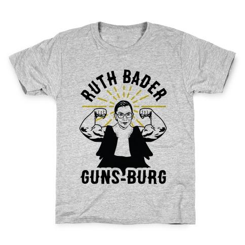 Ruth Bader Guns-Burg Kids T-Shirt