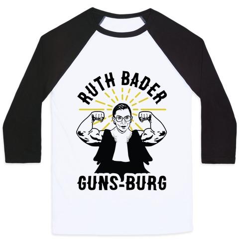 Ruth Bader Guns-Burg Baseball Tee