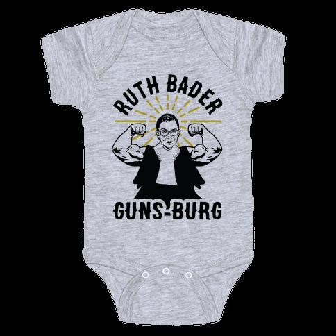 Ruth Bader Guns-Burg Baby Onesy