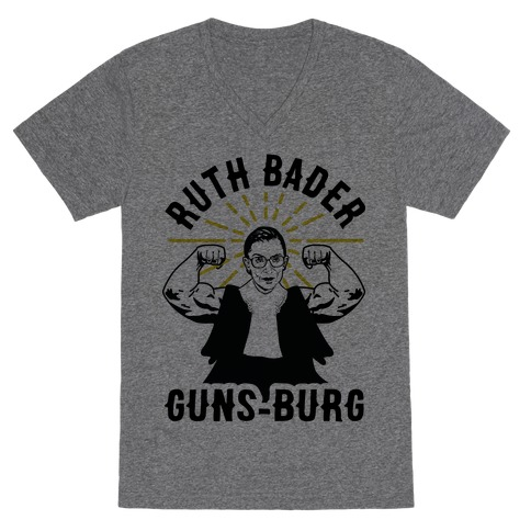 Ruth Bader Guns-Burg V-Neck Tee Shirt