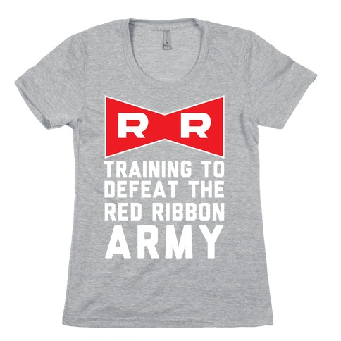 Training To Defeat The Red Ribbon Army Womens T-Shirt