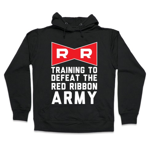 Training To Defeat The Red Ribbon Army Hooded Sweatshirt