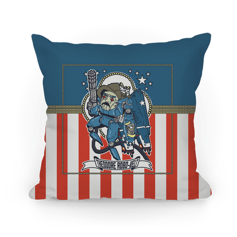 Theodore Robo-velt Pillow