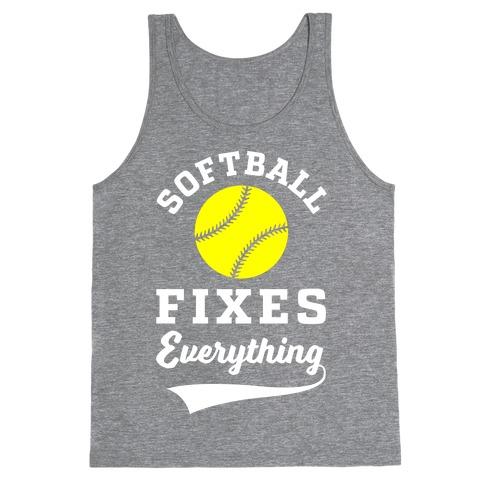 Softball Fixes Everything Tank Top