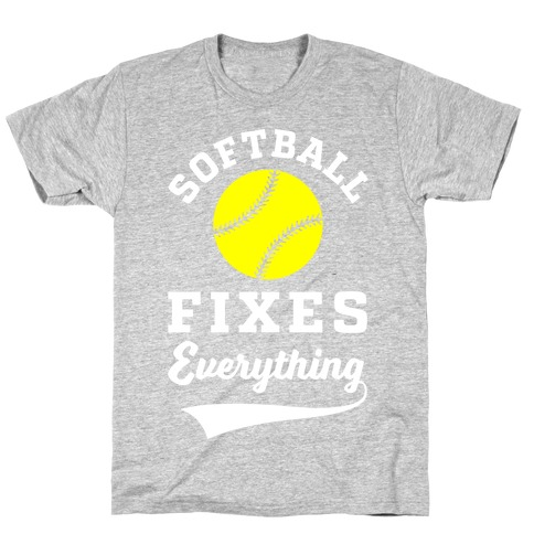 Softball Fixes Everything Mens/Unisex T-Shirt