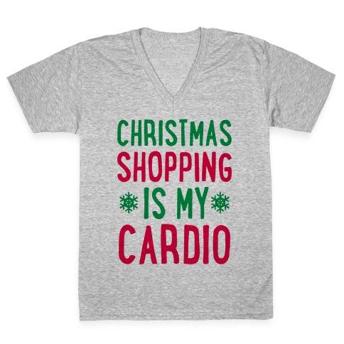 Christmas Shopping Is My Cardio V-Neck Tee Shirt