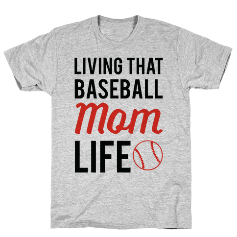 Living That Baseball Mom Life Mens T-Shirt